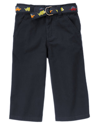 Gym Navy Dinosaur Belted Pant by Gymboree