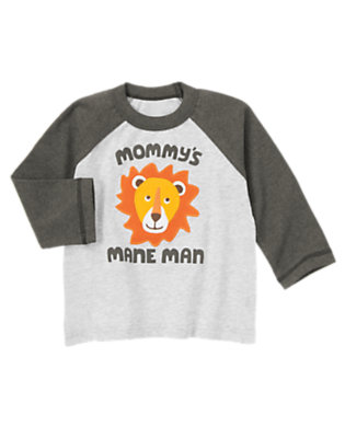 Light Grey Heather Mommy's Mane Man Tee by Gymboree
