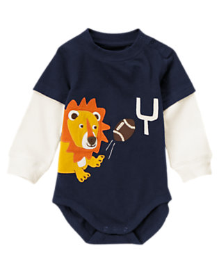 Gym Navy Lion Football Bodysuit/Tee by Gymboree