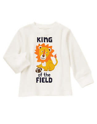 Ivory King Of The Field Thermal Tee by Gymboree