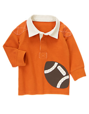 Toddler Boys Orange Pennant Football Rugby Shirt by Gymboree
