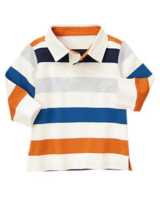 Orange Pennant Stripe Stripe Rugby Shirt by Gymboree