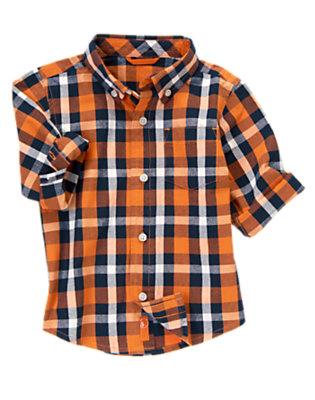 Orange Pennant Check Check Shirt by Gymboree