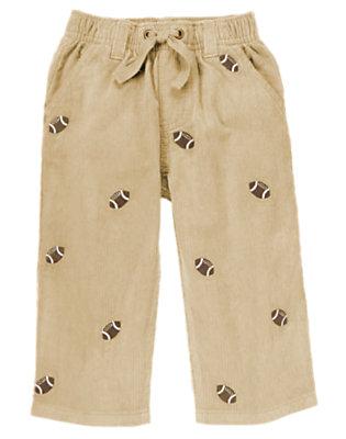 Khaki Football Pull-On Corduroy Pant by Gymboree