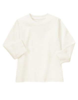 Ivory Always Soft Tee by Gymboree