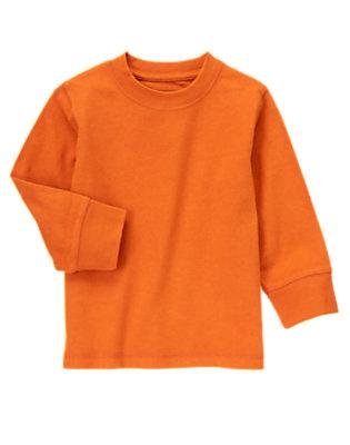 Toddler Boys Orange Always Soft Tee by Gymboree