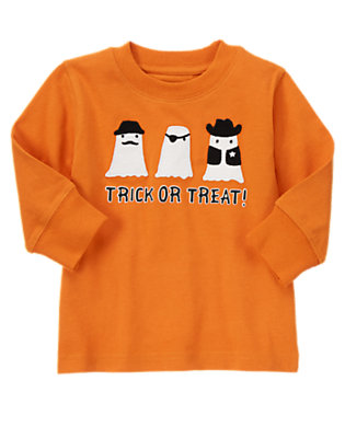 Pumpkin Orange Trick Or Treat Tee by Gymboree