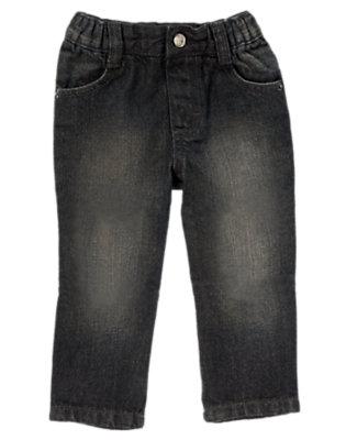 Toddler Boys Grey Denim Pull-On Grey Jean by Gymboree