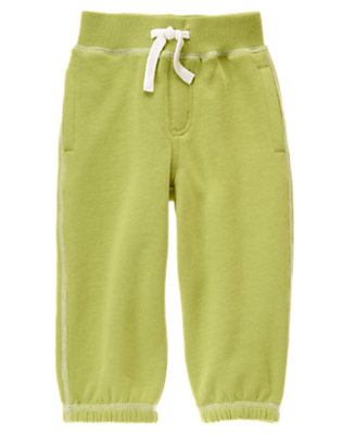 Toddler Boys Light Green Fleece Knit Pant by Gymboree