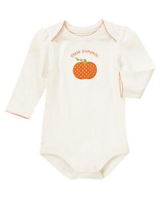 Ivory Little Pumpkin Bodysuit by Gymboree