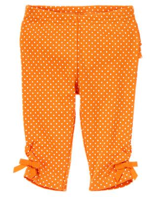 Pumpkin Dot Dot Ruffle Legging by Gymboree