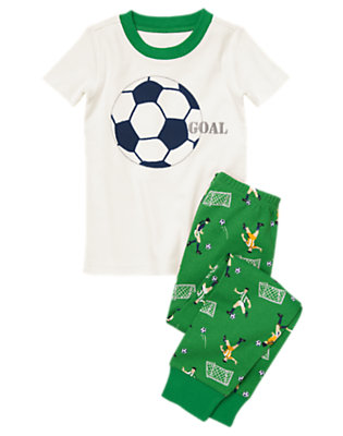 Toddler Boys Goalie Green Soccer Two-Piece Gymmies® by Gymboree