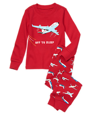 Jet Red Airplane Two-Piece Gymmies® by Gymboree