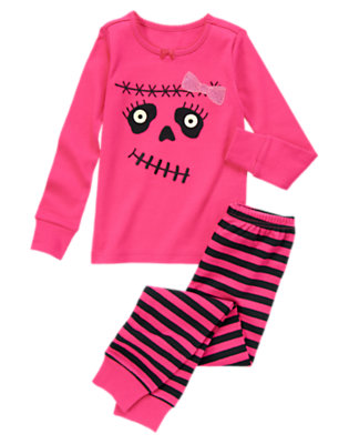 Girls Fuchsia Pink Frankengirl Two-Piece Gymmies® by Gymboree