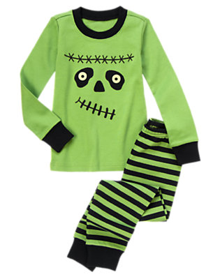 Spooky Green Frankenboy Two-Piece Gymmies® by Gymboree