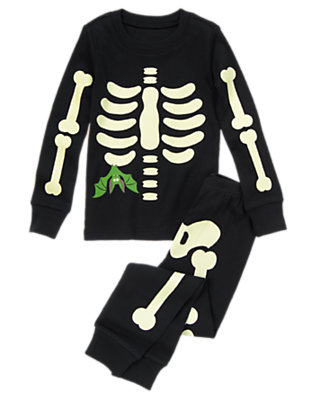 Black Skeleton Bat Two-Piece Gymmies® by Gymboree