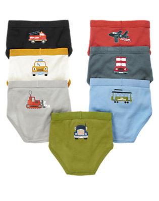 Toddler Boys Spaceship Navy Planes Trains & Trucks Brief Seven-Pack by Gymboree