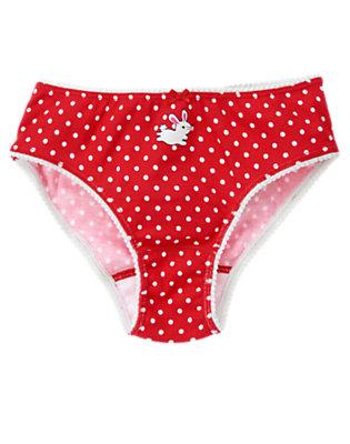 Girls Poppy Red Dot Bunny Dot Panty by Gymboree