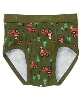 Toddler Boys Moss Green Owl Camp Jeep Brief by Gymboree
