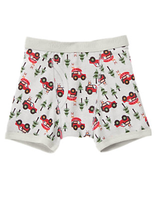 Toddler Boys Light Grey Owl Camp Jeep Boxer Brief by Gymboree
