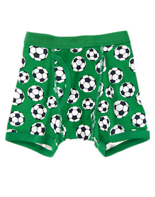 Toddler Boys Green Soccer Boxer Brief by Gymboree