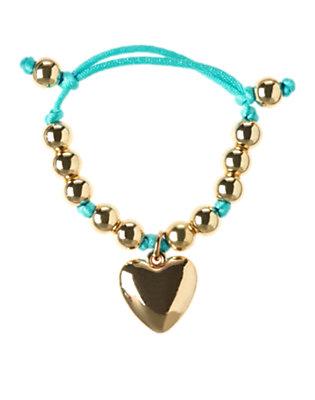 Girls Metallic Gold Heart Charm Bracelet by Gymboree