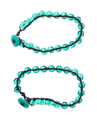 Girls Turquoise Blue Faceted Bead Bracelet Two-Pack by Gymboree