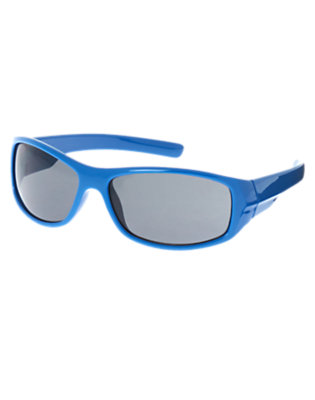 Toddler Boys Asteroid Blue Rectangular Sunglasses by Gymboree