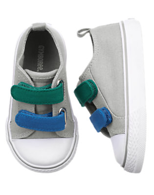 Toddler Boys Steel Grey Shell Toe Canvas Sneaker by Gymboree