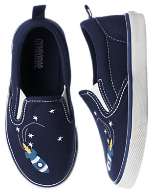 Toddler Boys Spaceship Navy Spaceship Slip-On Sneaker by Gymboree