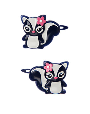 Girls Gym Navy Skunk Hair Clip Two-Pack by Gymboree