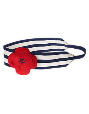 Girls Poppy Red Poppy Stripe Headband by Gymboree