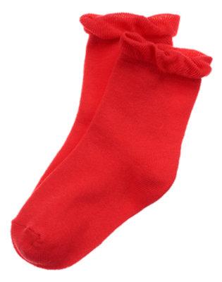 Poppy Red Ruffle Sock by Gymboree