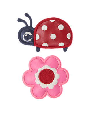 Ladybug Red Ladybug Flower Hair Clip Two-Pack by Gymboree