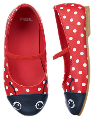 Toddler Girls Ladybug Red Ladybug Ballet Flats by Gymboree