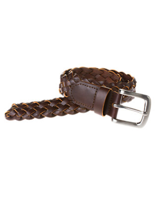 Boys Brown Braided Belt by Gymboree