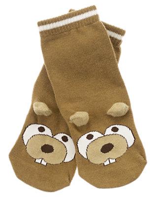 Toddler Boys Tan Beaver Sock by Gymboree