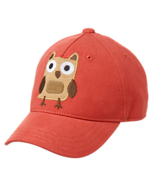 Toddler Boys Campfire Red Owl Baseball Cap by Gymboree