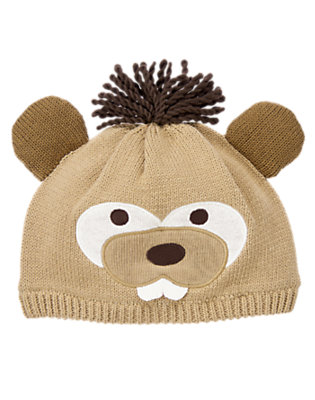 Toddler Boys Khaki Beaver Sweater Hat by Gymboree