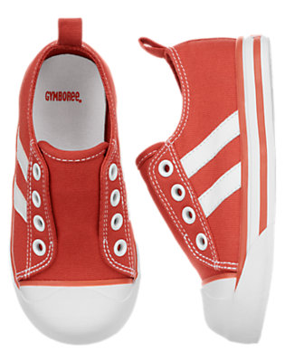 Campfire Red Stripe Laceless Sneaker by Gymboree