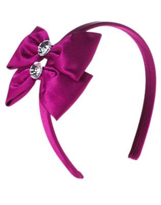 Girls Princess Purple Gem Bow Headband by Gymboree