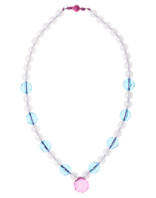 Girls Crystal Blue Faceted Bauble Necklace by Gymboree