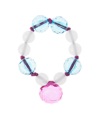Girls Crystal Blue Faceted Bauble Bracelet by Gymboree