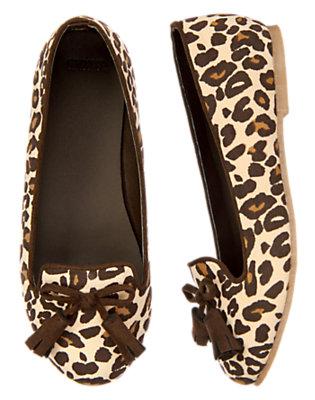 Tan Leopard Leopard Loafer Shoe by Gymboree
