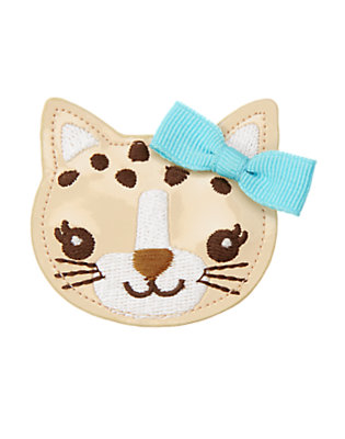 Toddler Girls Tan Bow Leopard Kitty Hair Clip by Gymboree