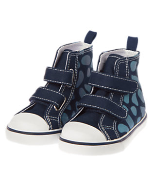 Dino Navy Dino High-Top Sneaker by Gymboree
