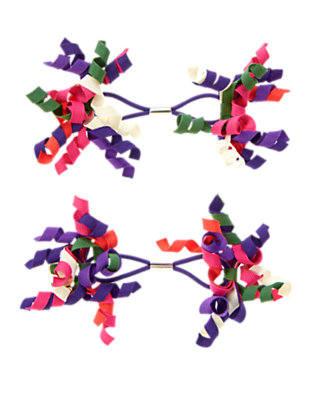 Purple Freesia Curly Pony Holder Two-Pack by Gymboree