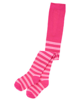 Toddler Girls Plume Pink Stripe Stripe Tight by Gymboree