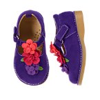 Flower Faux Suede Shoe