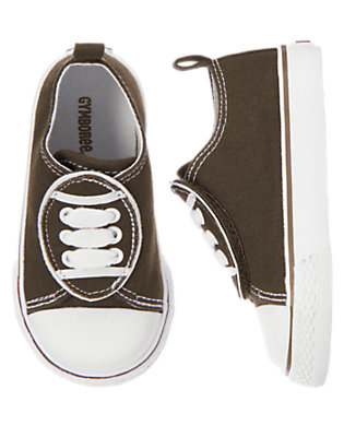 Dark Brown Shell Toe Football Sneaker by Gymboree